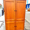 Solid Wood Entertainment Center in Excellent Condition.   44 x 24 x 75.  <b></b>