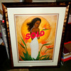 <i>Birds of Paradise</i> by Dexter Griffen - Compelling Limited Edition Hand-Signed Lithograph in Ornate Matted Frame.   #78 of 1200.  Includes Certificate of Authenticity.  Brilliant copper-look frame.  Excellent Condition.  32 1/2 x 41.  <b>$195</b>