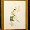 Hand-Signed Japanese Ceremonial Clown By Posso Pasq.  12 x 15.  <b>$50</b>