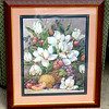 Beautiful Framed Floral Print by Barbara Mark.  23 x 28.  <b>$45</b>
