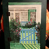 Unique Hanging Country Gate Wall Art Opens to Mirror.  15 x 21.  <b>$40</b>