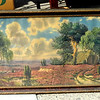 Antique Framed Art.  51 x 24.  <b>$195</b>