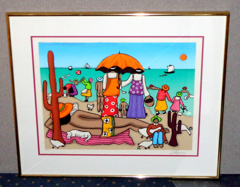 Mexican Riviera Lithograph 287/328 Hand-Signed By The Artist.  39 x 32 1/2.  <b>$125</b>