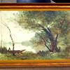 Vintage <i>The Boatmen of Mortefontaine</i> by Jean-Baptiste-Camille Corot Framed Art Print.  47 x 30.  <b>$75</b>