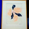 Distinctive Dimensional Floral Lithograph 11/15 in Quality Frame.  29 x 38.  <b>$150</b>
