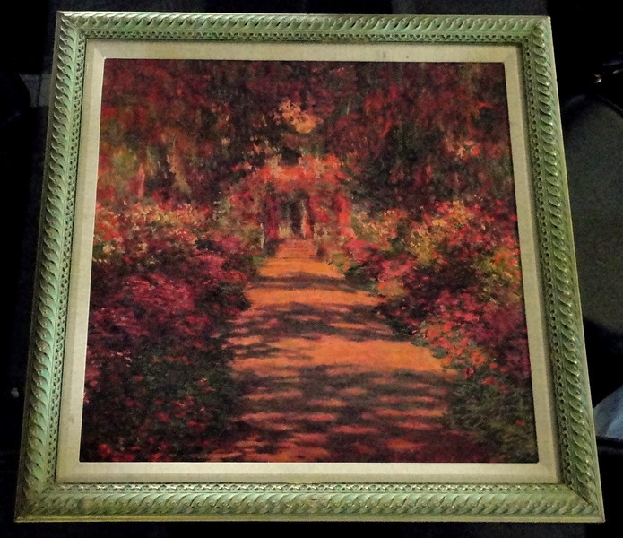 Colorful Garden Path in Oil.  31 x 31.  <b>$45</b>