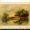 "Pastoral Fishing Scene ""Sunset in Kentucky"" Framed Art.  Copyright 1897 by J. Hoover.  23 x 19.  <b>$65</b>"