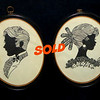 Set of 2 Framed Needlepoint Wall Art.  11 1/2 x 15.  <b>$75</b>