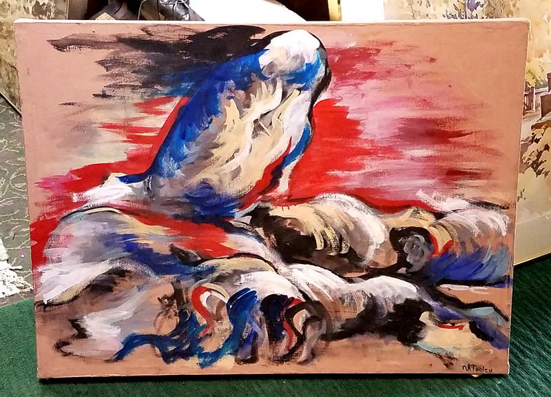Retro Oil on Canvas