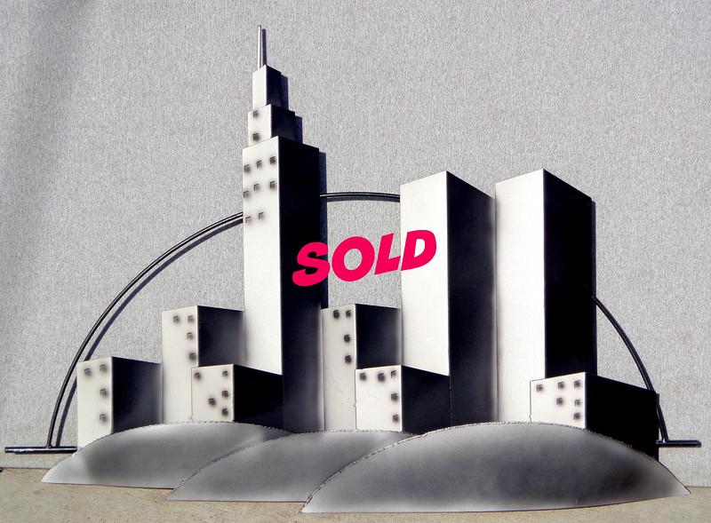 Curtis Jere, New York City Skyline Sculpture