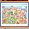 "Unique ""Historic Boston"" Print Signed By Marie Fox 1988 in Custom Frame.  31 1/2 x 28.  <b>$150</b>"