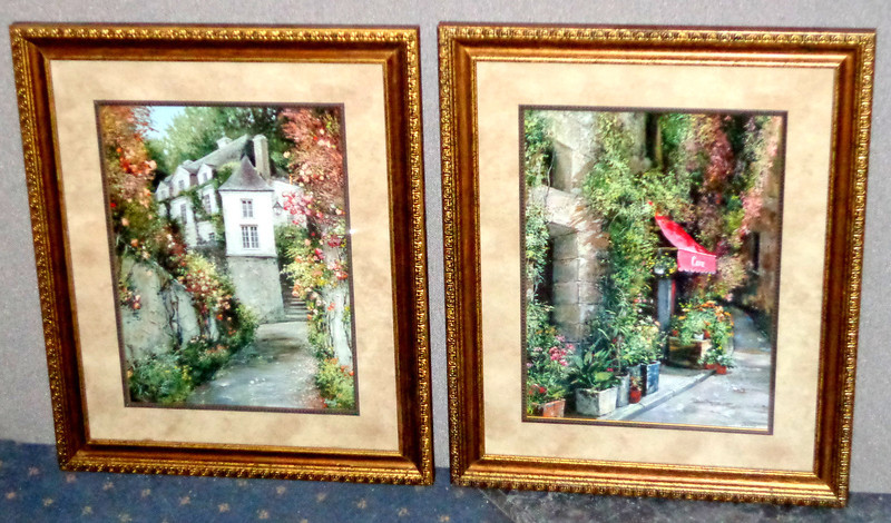 Set of 2 Elegant Roger Duvall Framed Art Prints.  Renowned Painter Robert Duvall's works have a dimensional feeling that is obtained through his masterful use of texture and subdued color.  Each painting has a sense of rhythm and realistic imagery.  19 x 24.  <b>$75 for the set.</b>