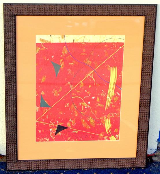Contemporary Asian-Theme Framed Art Print.  29 1/2 x 26.  <b>$25</b>