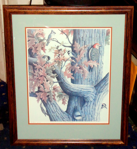 """""""Life in an Oak Tree"""" Signed Lithograph by D. Keene 45/255.    22 x 26.  <b>$60</b>"""