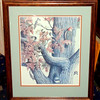 """Life in an Oak Tree"" Signed Lithograph by D. Keene 45/255.    22 x 26.  <b>$60</b>"