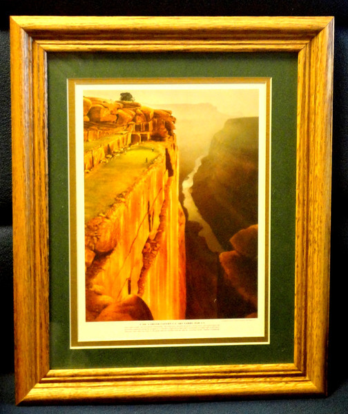 No. 4 Grand Canyon C.C. 287 Yards, Par 4.  14  x 16.  The perfect gift for the avid golfer.  <b>$10</b>