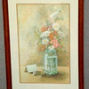 <i>Forever Flowers </i> Hand Signed Print by Dolores Roberson ~1980.  18 x 25.  <b>$45</b>
