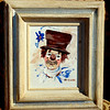 Clown by Merzigian in White Oak Frame.  16 x 18.  <b>$35</b>