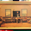 Vintage Schoolhouse Teacher Teaching Children's Class.  22 x 14.  <b>$45</b>