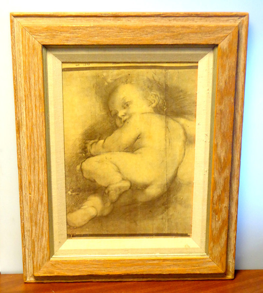 Vintage <i>Study of Child</i> by Federico Barcocci Framed Print..   Federico Barocci (about 1533–1612) is celebrated as one of the most talented artists of late 16th century Italy. Fascinated by the human form, he fused charm and compositional harmony with an unparalleled sensitivity to color. 16 x 21.  <b>$95</b>