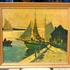 New England Dockside in Frame.  35 x 30.  <b>$75</b>