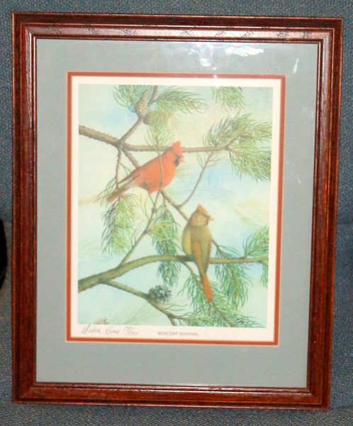 """""""Redcoat Sentinel"""" Signed Lithograph by Debora Keene 74/140.    13 x 16.  <b>$45</b>"""
