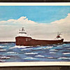 Great Lakes Steamer Lithograph