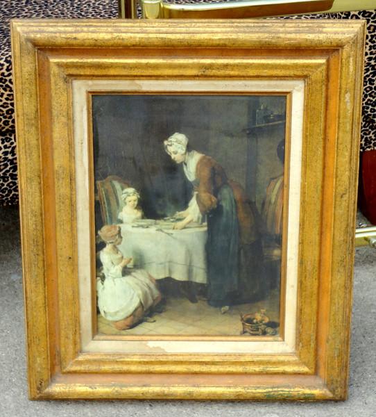 Exceptional Antique Framed Art.  21 x 25.  <b>$195</b>