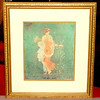 La Primavera B Double Matted Gold Spice Ivory in Elegant Frame.  21 x 24.  <b>$65</b>