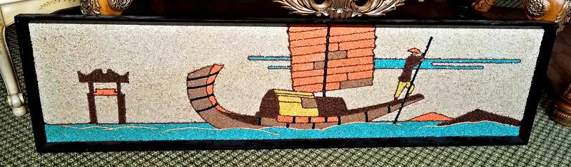 Asian Gondola Mosaic Art