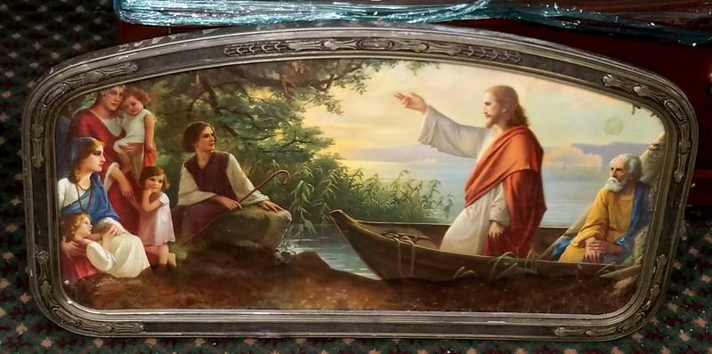 Jesus In Glass Frame