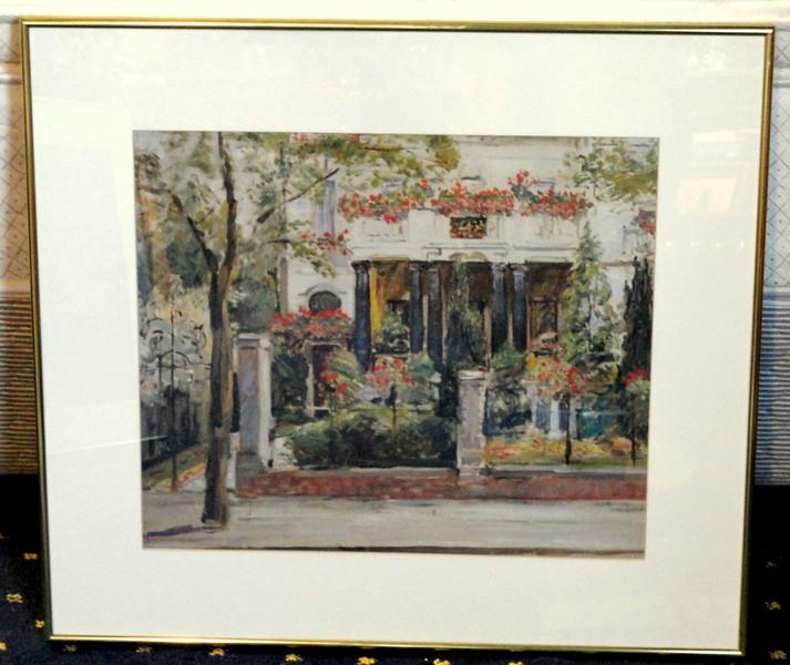 Urban Mediterranean Chateau Framed Art.  28 x 26.  <b>$35</b>