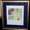 Adajio by Sarajun Chang Framed Art.  Contemporary style in elegant smoke silver frame.  38 x 31.  <b>$40</b>