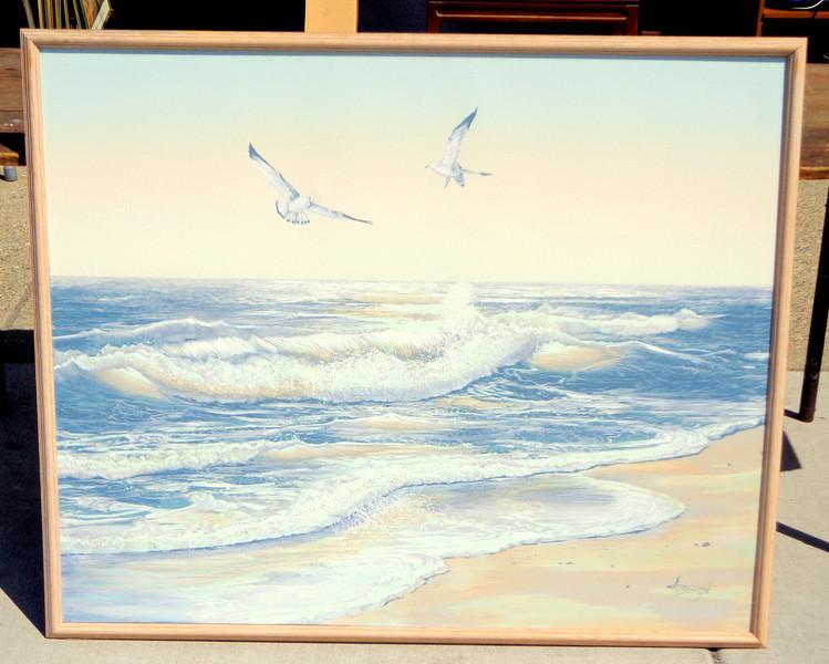 Ocean Gulls Original Oil by Anderson.  46 x 38.  <b>$50</b>