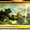 Pastoral Scene of Fishing on Pond in Incredible Ornate Frame.  Incredibly beautiful and in top flight condition.  43 x 31.  <b>$175</b>