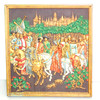 "Marcus Designs ""The May Panel."" 14th Century Masterpiece.  13 1/4  x 14 1/4.  <b>$65</b>"