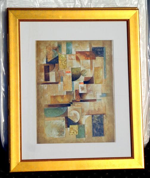 Contemporary Framed Art.  33 x 40.  <b>$45</b>