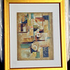 Contemporary Framed Art.  33 x 40.  <b>$45</b>