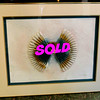Intriguing Contemporary 3-Dimensional Fan Framed Art.  40 x 33.  <b>$95</b>