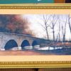 Nice Fall Nature Scene Framed Art - Bridge.  40 x 29.  <b></b>