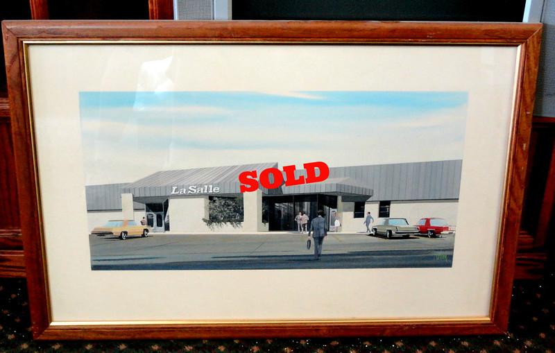 """""""LaSalle"""" Retro Framed Art.  35 x 24.  <b>$40</b>"""