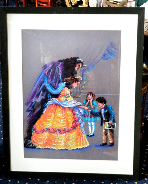 Collector's Framed <i>Beauty and the Beast</i> Wall Hanging from Walt Disney Hotel Orlando.  32 x 40.  <b>$40</b>