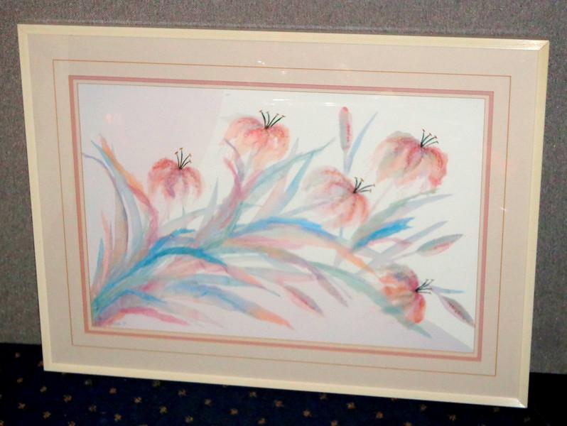 1988 Watercolor Framed Print by Henry Hyde.  33 x 24.  <b></b>