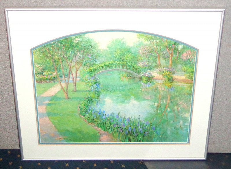 Vivian Hollan Swain Signed Limited Framed Print 837/950.  32 x 27.  <b>$85</b>