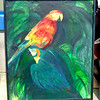 Parrots Original Oil in Frame.   33 x 39.  <b>$95</b>