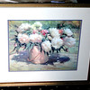 Peonies in a Garden Bucket.  Colorful Spring Still Life by James Berberian.   31 x 26.  <b>$40</b>