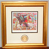Emmet Kelly <i>Catch the Brass Ring</i> Lithograph By Leighton Jones Stanton Arts 1954 of 5000 Certificate.  16 x 16.