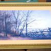 Nice Fall Nature Scene Framed Art - Fence.  40 x 29.  <b></b>