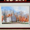 Pastoral Church in Nature Setting By Richard Bollinger Framed Art.  30 x 23.  <b>$75</b>