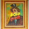 Vintage Clown Artist <i>Morris Katz</i> Impasto Oil in Frame.  19 x 23.  <b>$85</b>